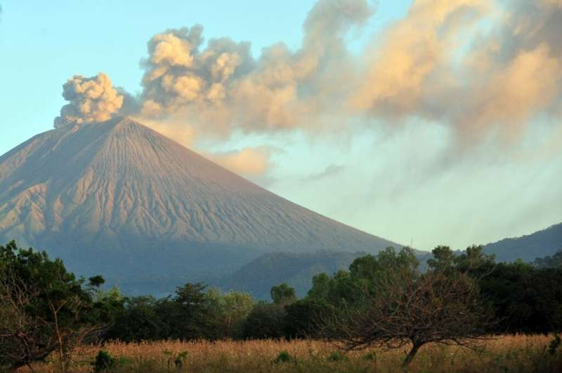 The San Cristobal volcano is seen from Chinandega in Nicaragua in 2012