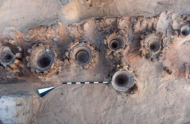 The vats unearthed in southern Egypt are thought to have been used to brew beer 5,000 years ago