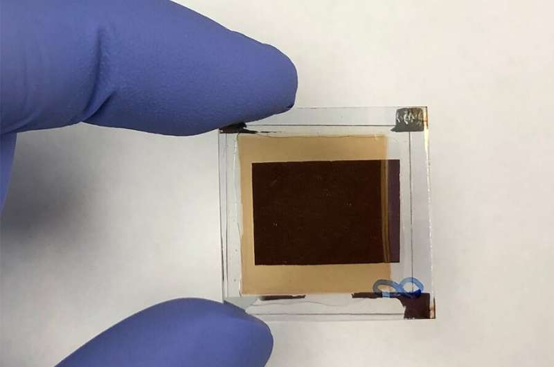 Thin, large-area device converts infrared light into images