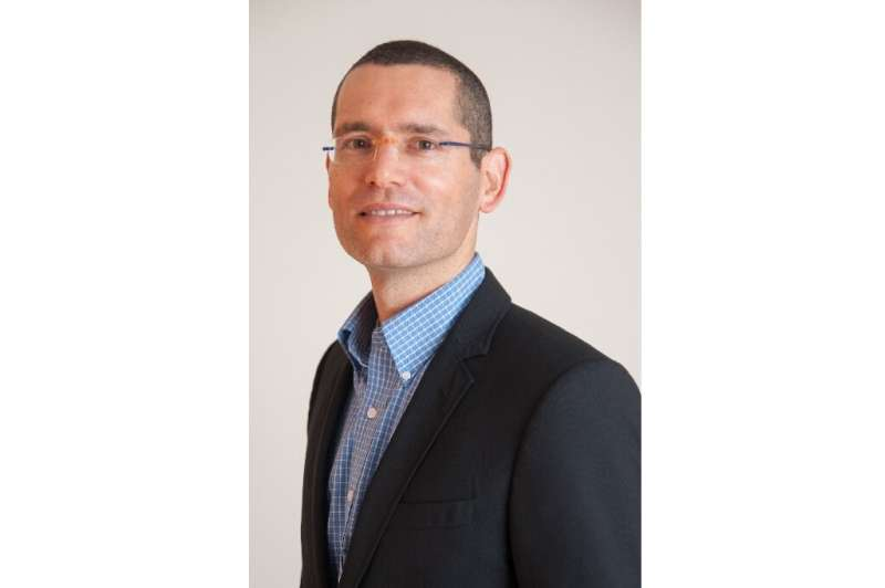 This handout photo courtesy of Oramed shows a portrait of Nadav Kidron, CEO of the Israeli pharmaceutical Oramed