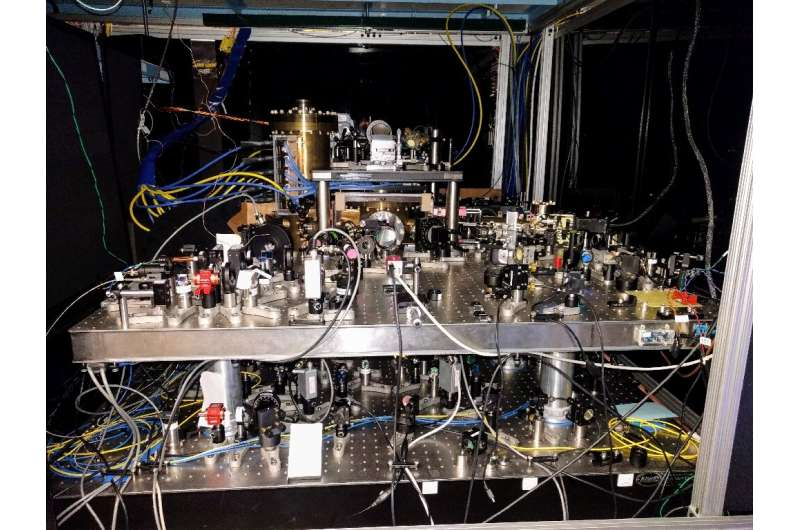 This January 25, 2017, image courtesy of Dr. Ed Marti, shows a strontium optical lattice clock, stored at Jun Ye's lab in the Un