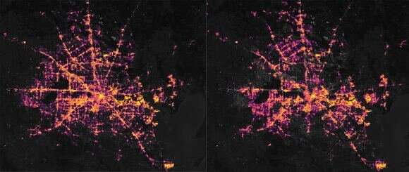 This is what rolling blackouts look like from space