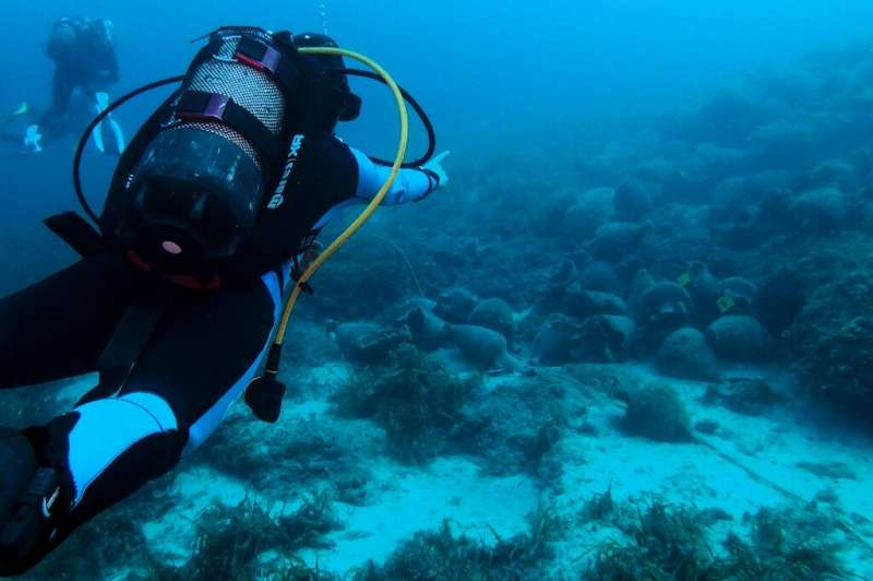 Thousands of amphore mark the wreckage of an ancient Greek vessel and now the country's first underwater museum