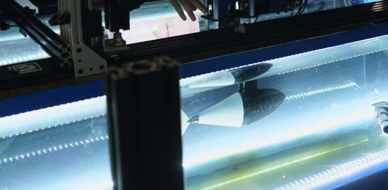 To swim like a tuna, robotic fish need to change how stiff their tails are in real time