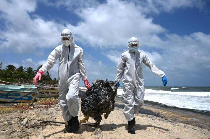 Tonnes of microplastic granules from the ship and its nearly 1,500 containers have inundated Sri Lanka's famed beaches