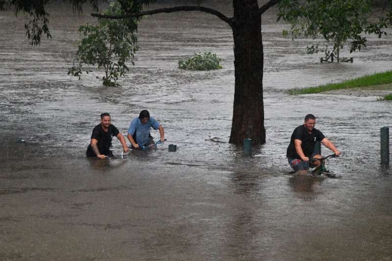 Torrential downpours have been lashing Australia's southeast for days, causing rivers in Australia's most populous state to reac