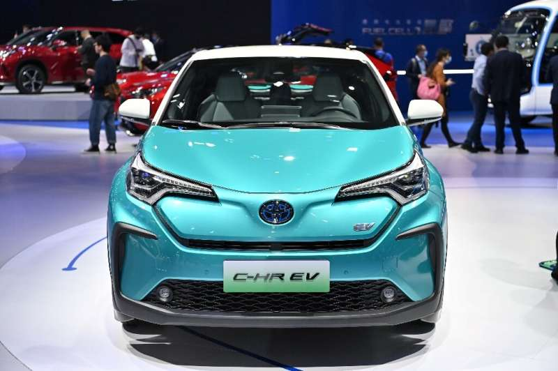 Toyota showed off at the Shanghai motor show a number of electric vehicles for the Chinese market, currently the only country wh
