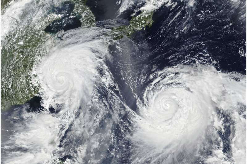 Tropical cyclones are nearing land more, except in Atlantic