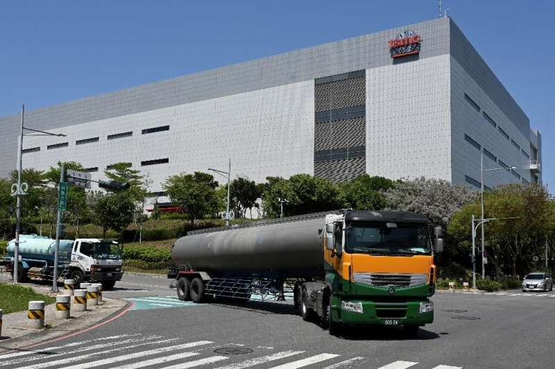 TSMC is among chipmakers who have started trucking in water to its foundries and has played down concerns that the drought will