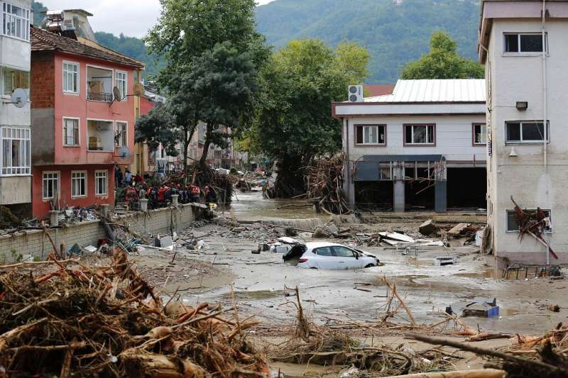 Turkey's disaster response authority said 25 people had lost their lives in the northern Kastamonu province