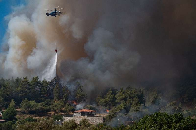 Turkey's most destructive wildfires in generations have erased pristine forests and rich farmland across swaths of the Mediterra