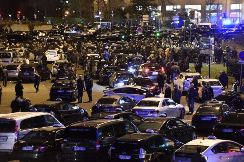 Uber's arrival in France sparked bitter protests by taxi drivers