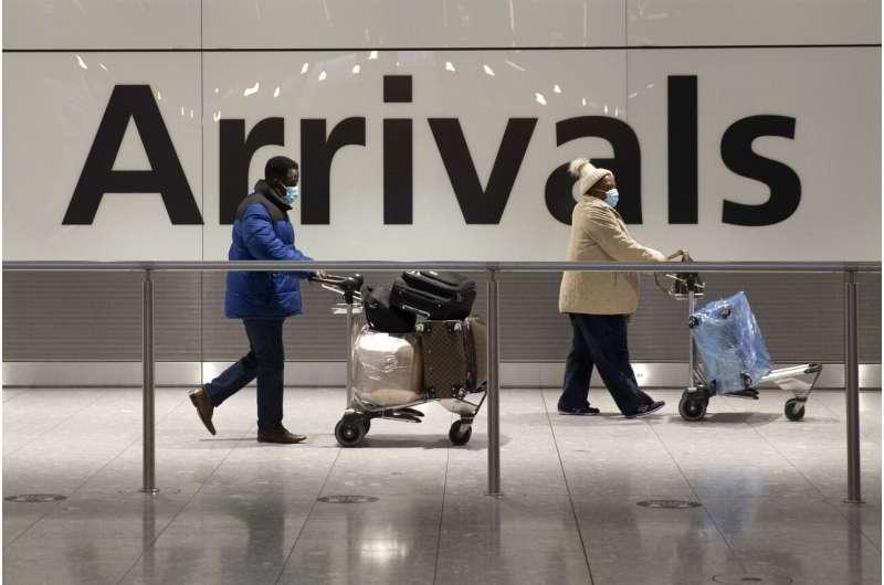 UK eyes quarantine hotels for travelers to curb variants