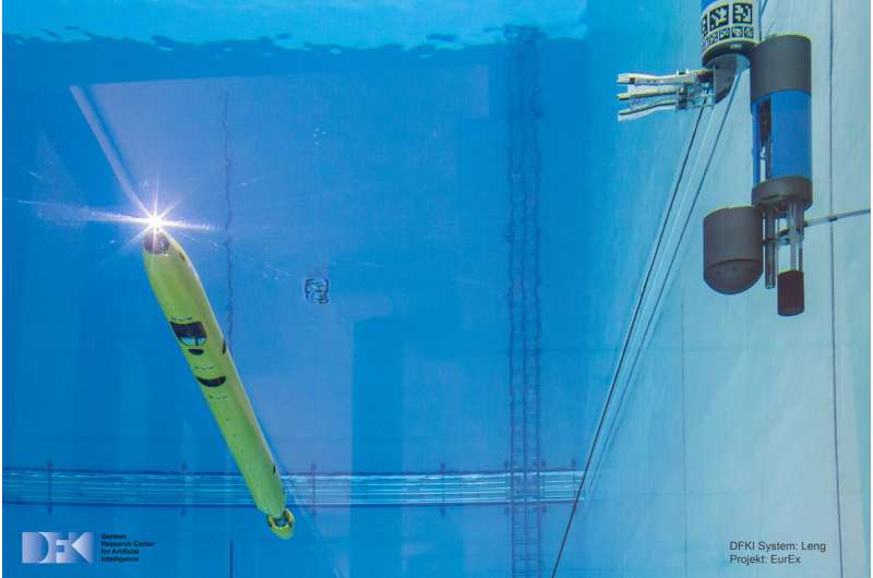 Le robot sous-marin n'a pas besoin d'aide sur le fond de l'océan