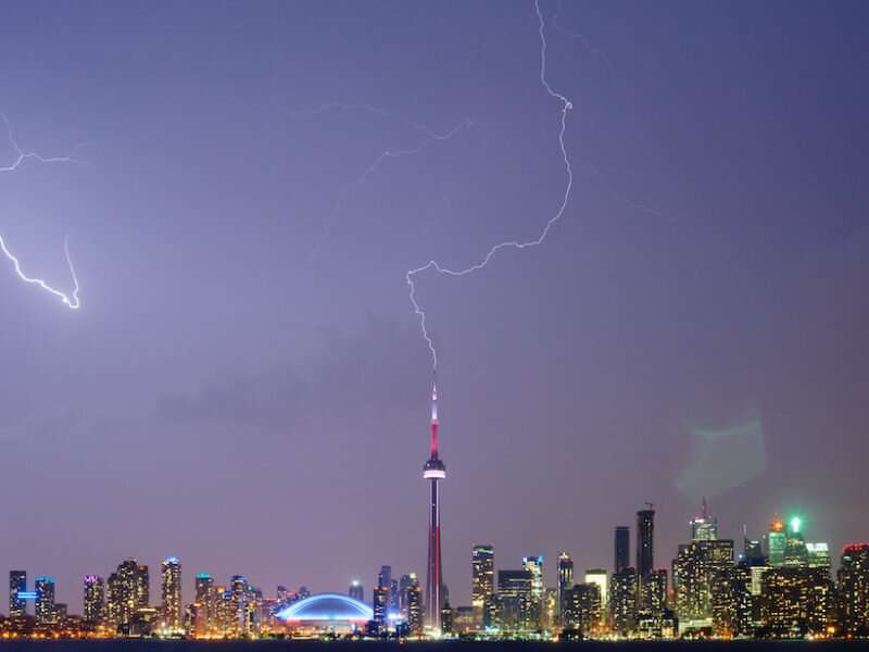 Upward lightning takes its cue from nearby lightning events
