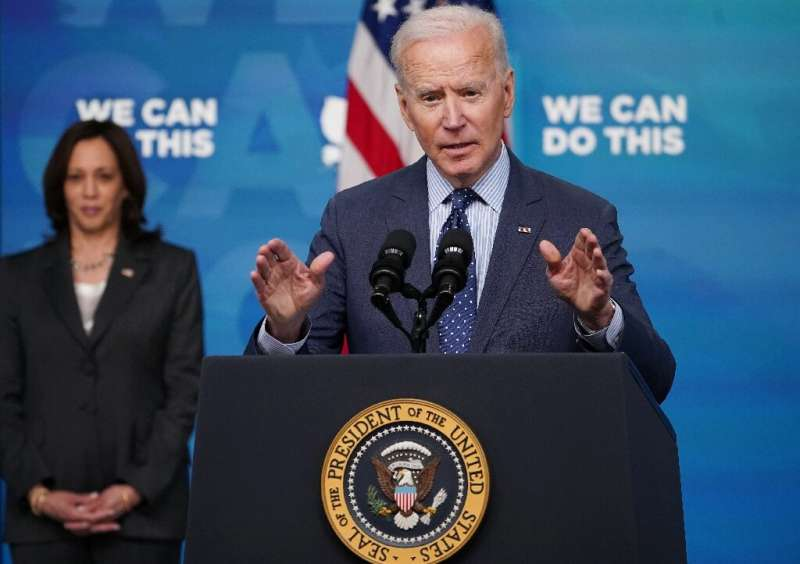 US President Joe Biden,  pictured on June 2, 2021, has expanded a blacklist of Chinese firms that are off-limits to US investors