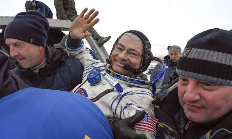 US astronaut launching next month may spend year in space