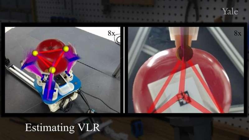 Using a virtual linkage representation algorithm to improve functionally of a robot hand