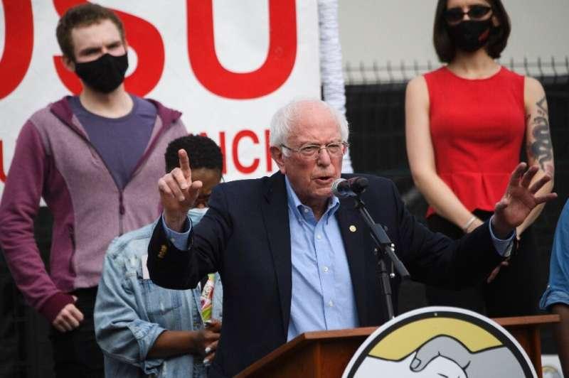 US Senator and progressive leader Bernie Sanders was among the high-profile leaders backing unionization of the Amazon fulfillme