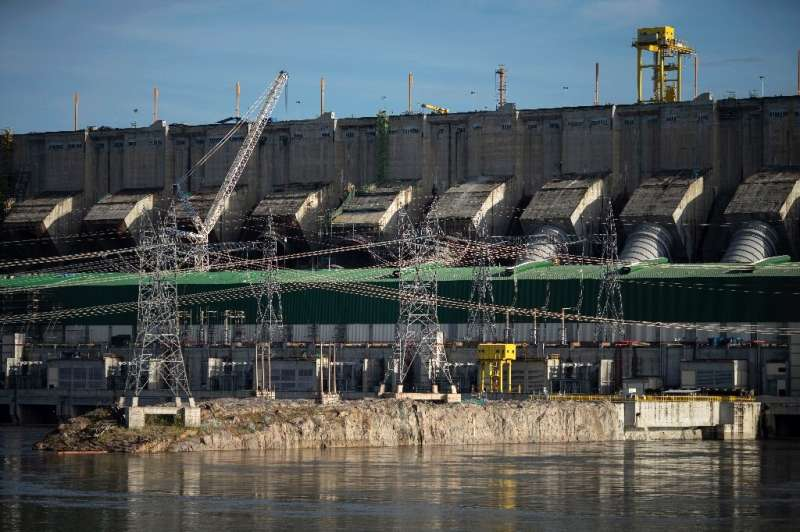 View of the Belo Monte Hydroelectric Power Plant in Altamira, Para State, Brazil