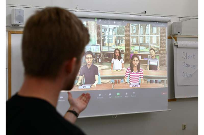 Virtual pupils make for more confident teachers