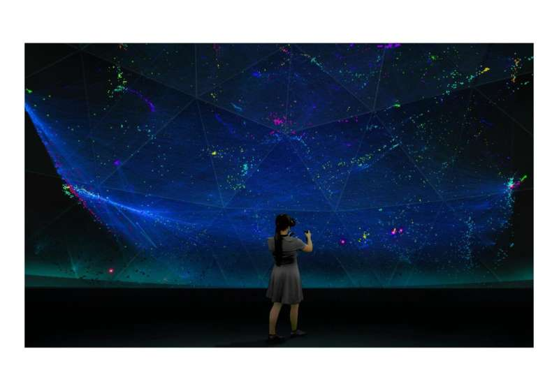 VR visualization supports research on molecular networks