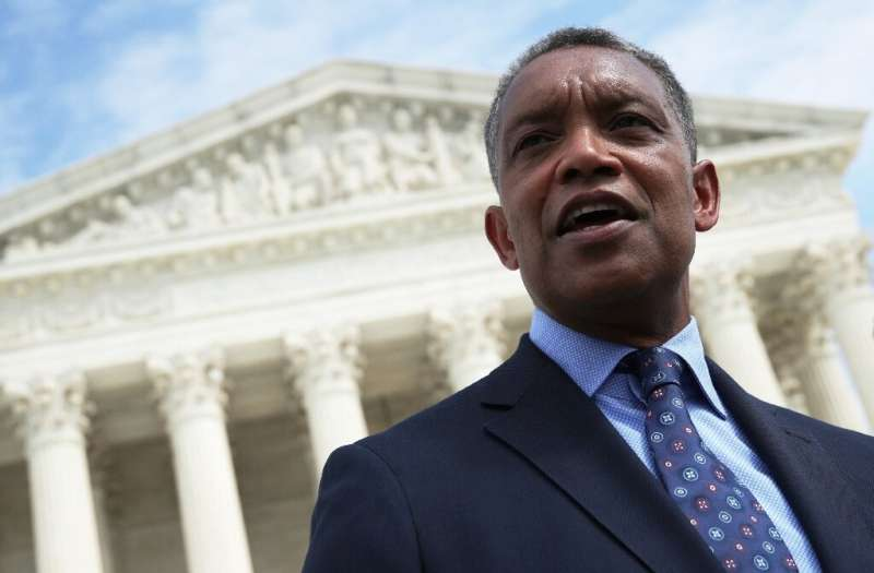 Washington, DC Attorney General Karl Racine speaks after a news conference in 2019 in which state officials announced an antitru