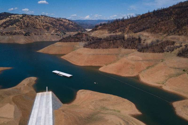 Water levels in the Lake Oroville reservoir, the second largest in California, are already far lower than in past years—a worryi