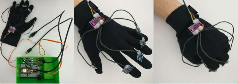 WaveGlove: A glove with five inertial sensors for hand gesture recognition