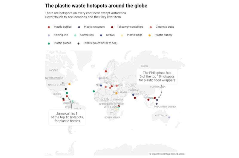We analysed data from 29,798 clean-ups around the world to uncover some of the worst litter hotspots