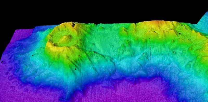 We've discovered an undersea volcano near Christmas Island that looks like the Eye of Sauron