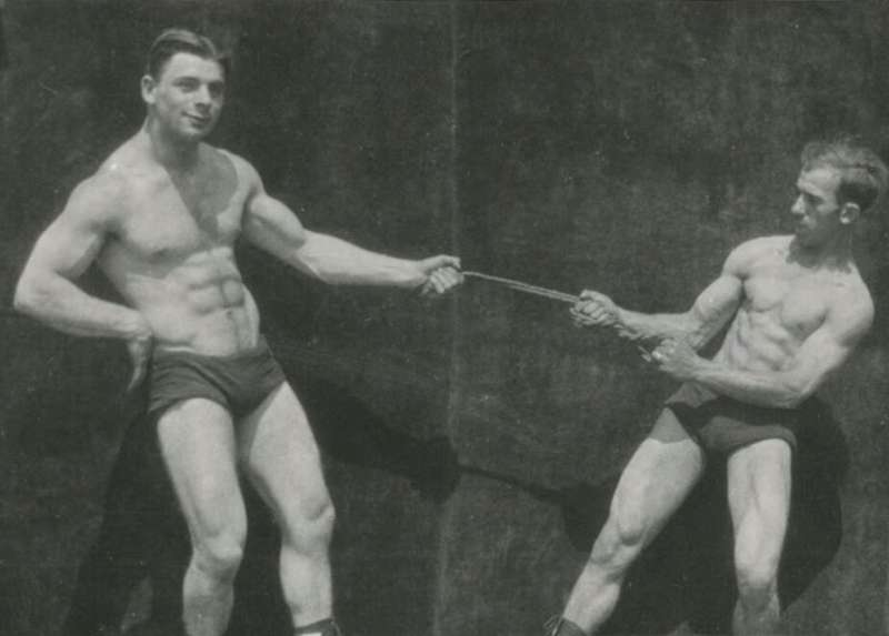 When men started to obsess over six-packs