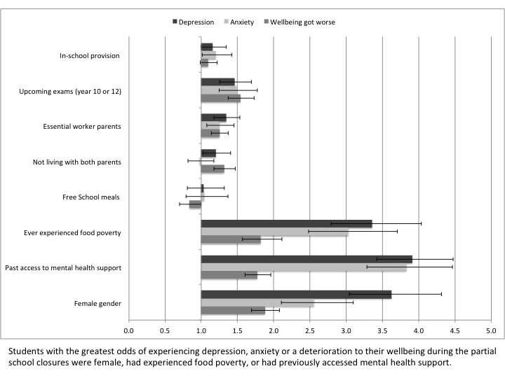 Which students are at most risk of mental health problems during COVID-19 lockdowns?