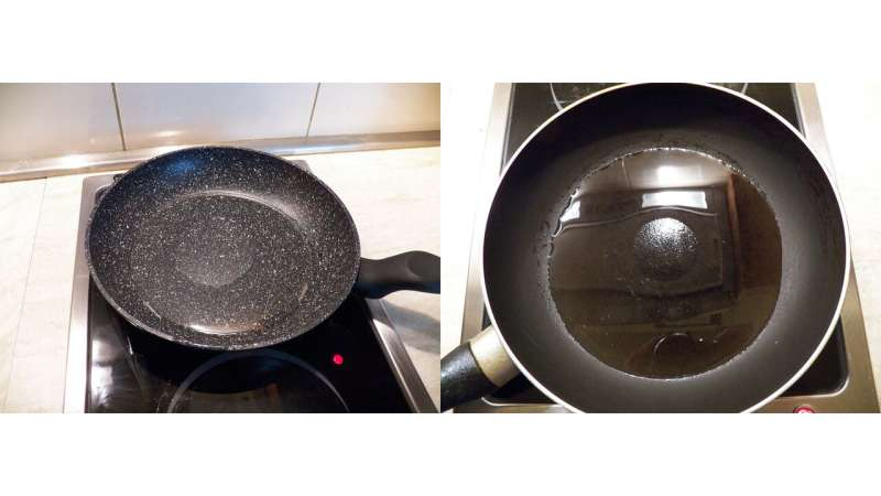 Why food sticks to nonstick frying pans