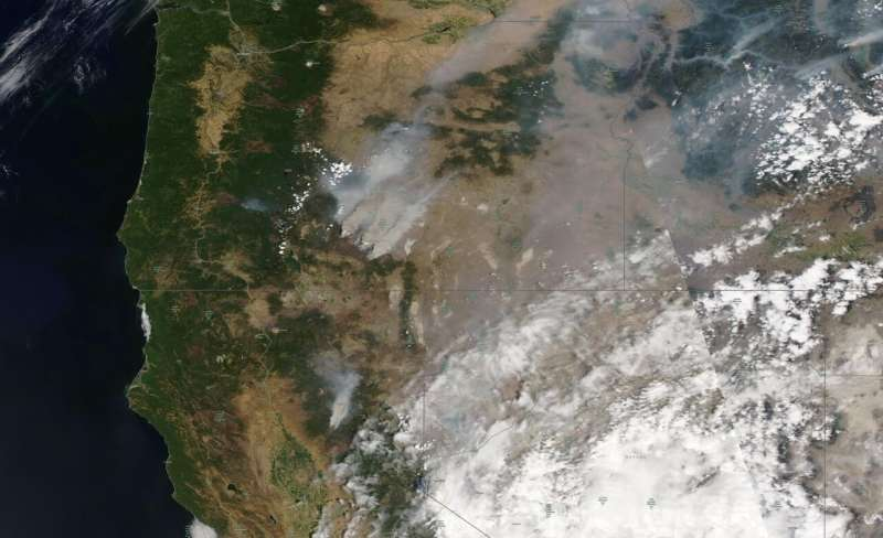Wildfires in US West blowing 'so much smoke' into East Coast