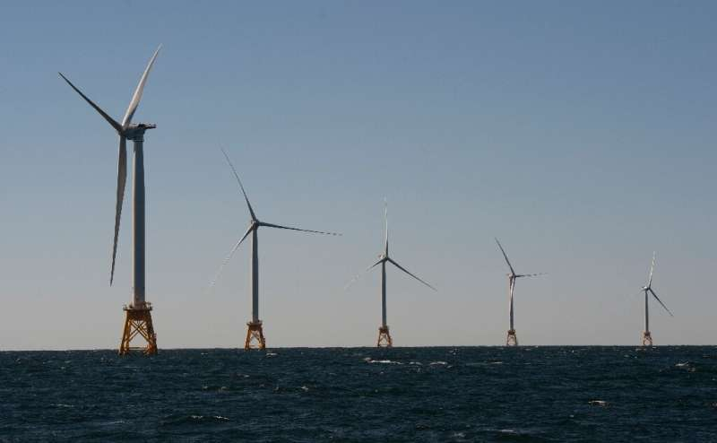 Wind turbines off Rhode Island—the United States is now opening up Californian waters for wind projects