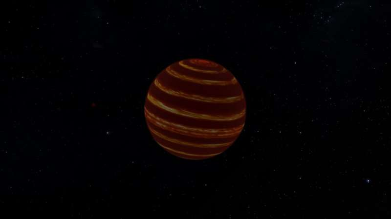 Winds and jet streams found on the closest brown dwarf