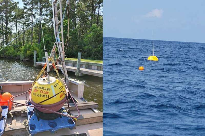 With their waverider buoys, researchers collect data on the powerful clean energy available in our oceans