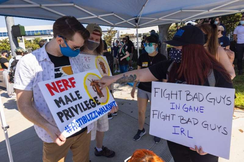 """Workers at Activision Blizzard, the company behind """"Call of Duty,"""" have protested after allegations of sexism and disc"""