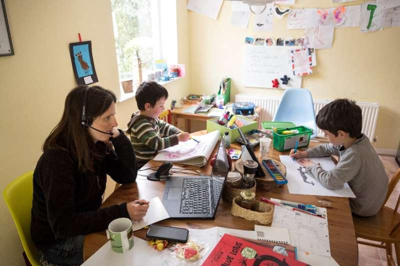 Working from home while the children are homeschooling is becoming increasingly common, ut now the UN is sounding a warning