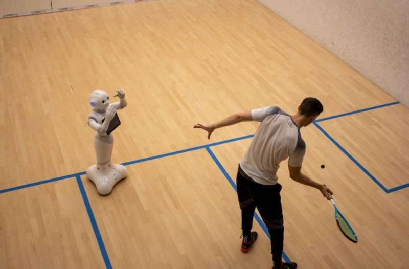 World's first robotic squash coach