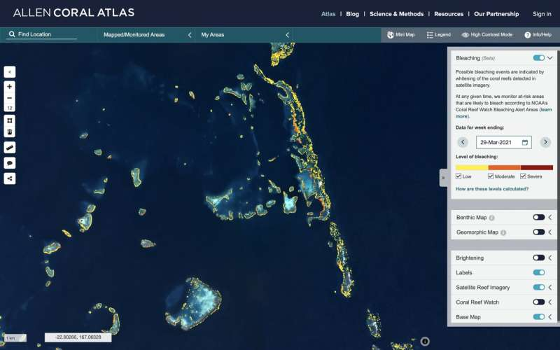 World's first, satellite-based monitoring system goes global to help save coral reefs