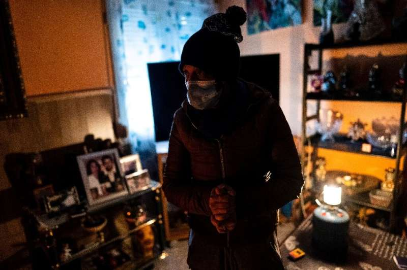Yolanda Martin, 47, says she's 'more afraid of the cold than of Covid'.