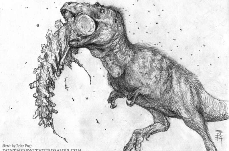 Young T. rexes had a powerful bite, capable of exerting one-sixth the force of an adult