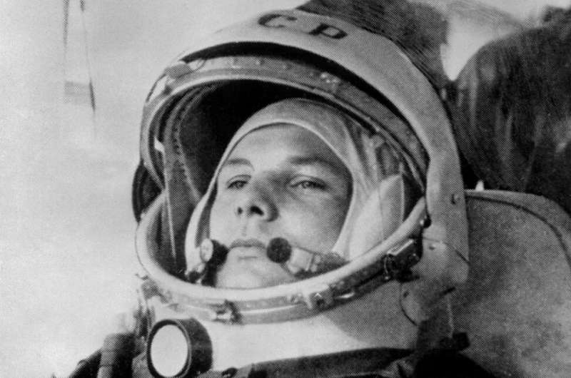 Yuri Gagarin, then 27, prepares to board Soviet Vostok I spaceship on April 12, 1961 before becoming the first man to travel int