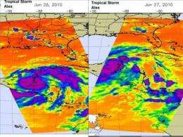 Tropical Storm Alex now in Gulf of Mexico, brought heavy rainfall to Belize, Yucatan