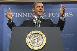 Obama promotes energy ideas at Penn State (AP)