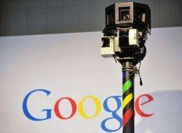 The camera of a street-view car, used to photograph whole streets for Google maps