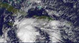 NASA satellite data confirm a stronger Tropical Storm Tomas, hurricane warnings up