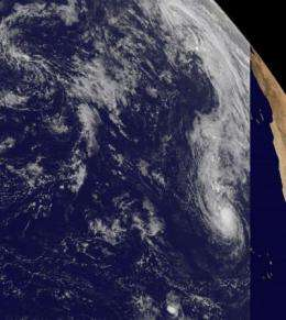GOES-13 Satellite sees Lisa a tropical storm...for now